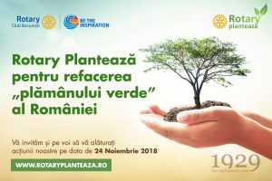"Rotary Club Bucharest joins members of Rotary International for ""Rotary is Planting"""