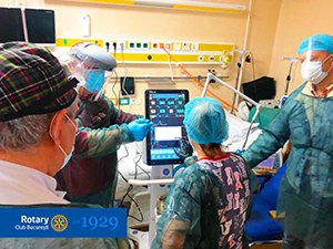 Invasive ventilation donation to the Floreasca Emergency Hospital, Bucharest