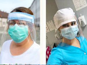 Donații de viziere la Spitalul de Urgență Floreasca, Spitalul Elias și la Spitalul Gerota